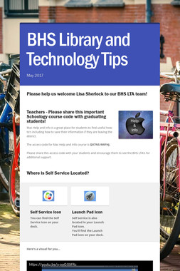 BHS Library and Technology Tips
