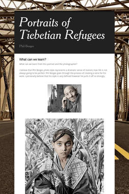 Portraits of Tiebetian Refugees
