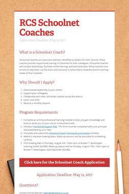 RCS Schoolnet Coaches