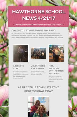 Hawthorne School News 4/21/17