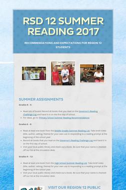 RSD 12 Summer Reading 2017
