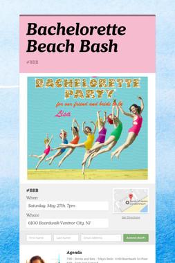 Bachelorette Beach Bash