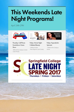 This Weekends Late Night Programs!