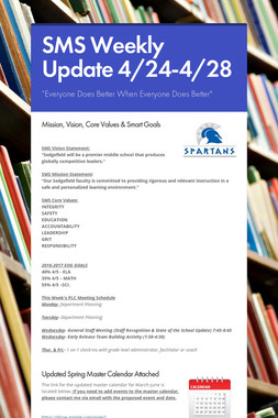 SMS Weekly Update 4/24-4/28