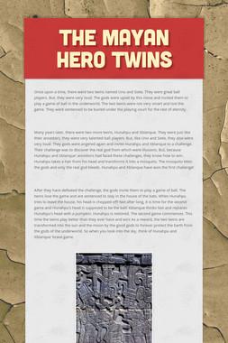 The Mayan Hero Twins
