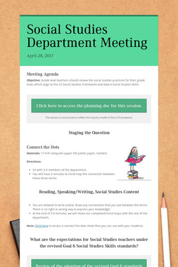 Social Studies Department Meeting