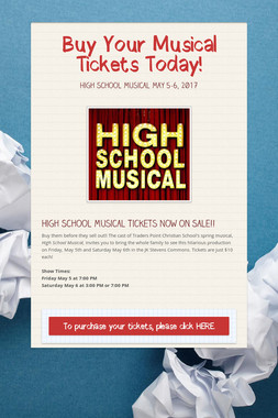 Buy Your Musical Tickets Today!