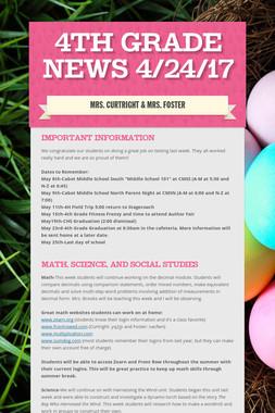 4th Grade News 4/24/17