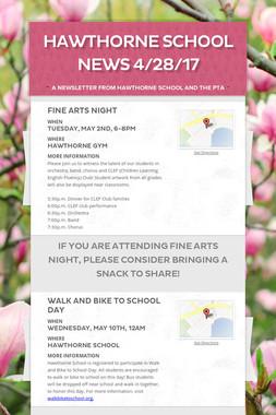 Hawthorne School News 4/28/17