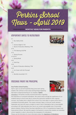 Perkins School News - April 2019