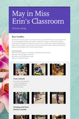 May in Miss Erin's Classroom