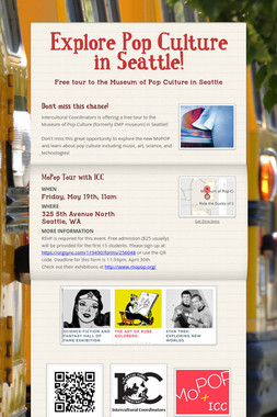 Explore Pop Culture in Seattle!