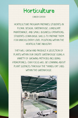 Horticulture Occupations