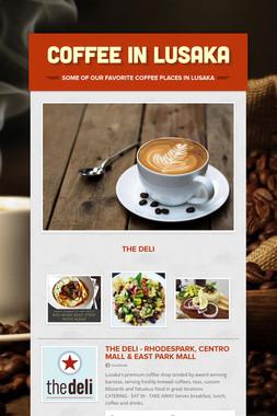 Coffee in Lusaka