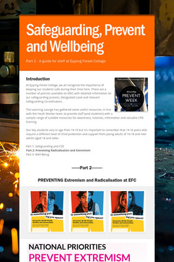 Safeguarding, Prevent and Wellbeing
