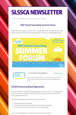SLSSCA NEWSLETTER