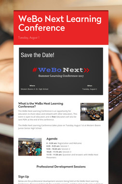 WeBo Next Learning Conference