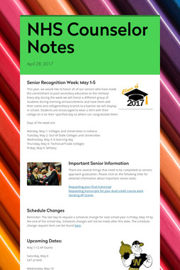 NHS Counselor Notes