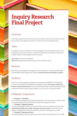 Inquiry Research Final Project