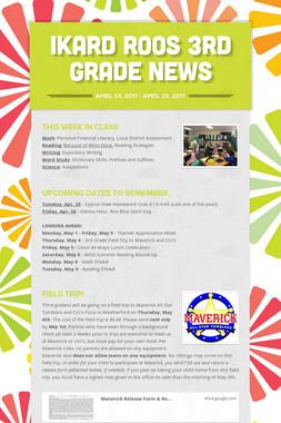 Ikard Roos 3rd Grade News