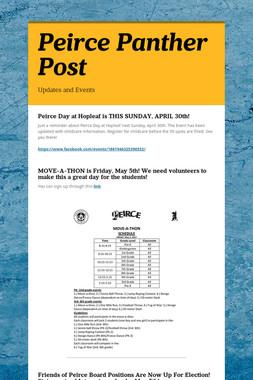 Peirce Panther Post