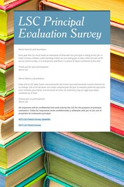 LSC Principal Evaluation Survey