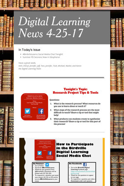 Digital Learning News 4-25-17