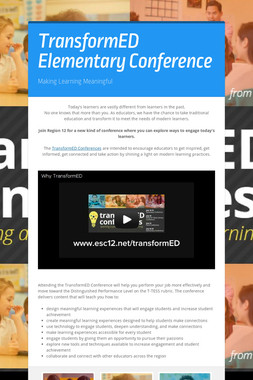 TransformED Elementary Conference