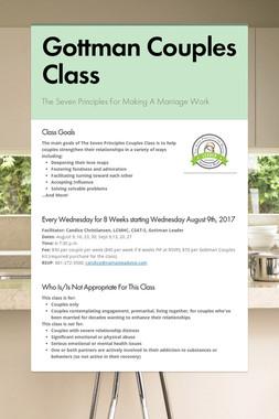 Gottman Couples Class