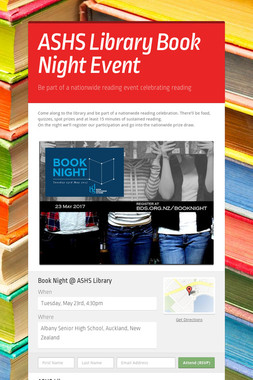 ASHS Library Book Night Event