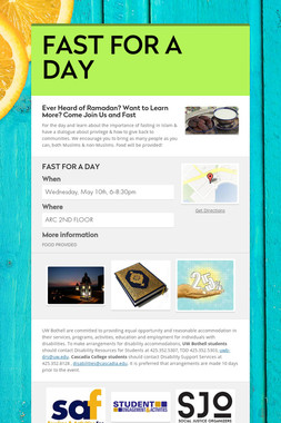 FAST FOR A DAY