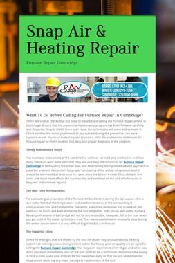 Snap Air & Heating Repair