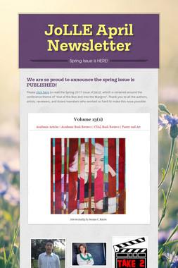 JoLLE April Newsletter