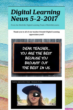 Digital Learning News 5-2-2017