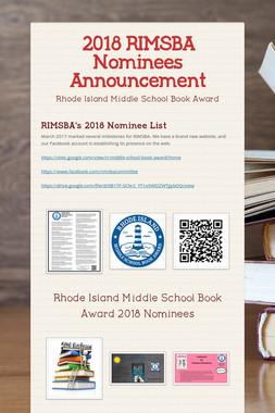 2018 RIMSBA Nominees Announcement