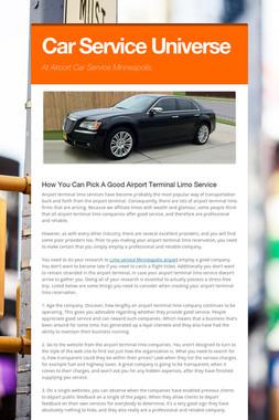Car Service Universe