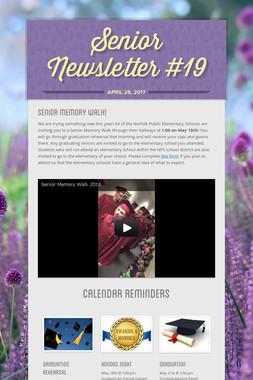 Senior Newsletter #19