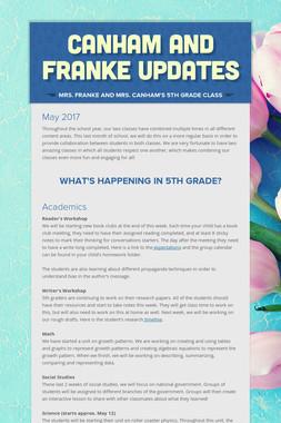 Canham and Franke Updates