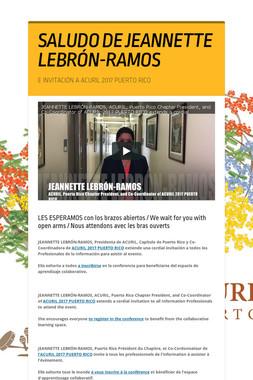SALUDO DE JEANNETTE LEBRÓN-RAMOS
