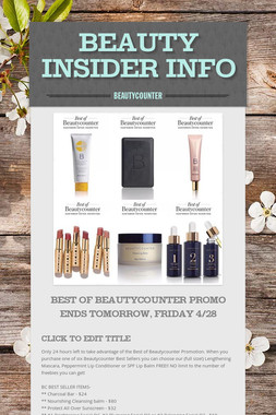 Beauty Insider Info