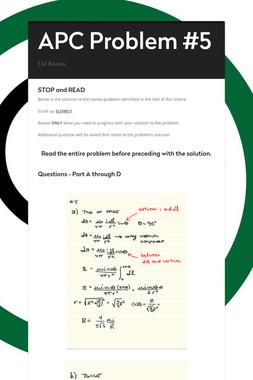 APC Problem #5