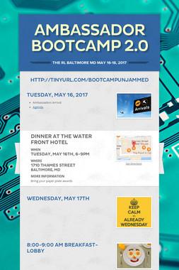 Ambassador Bootcamp 2.0
