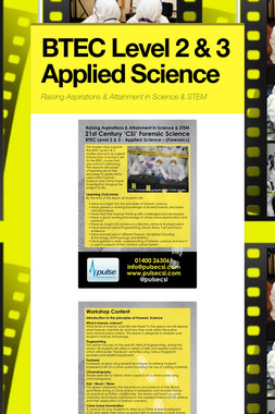 BTEC Level 2 & 3 Applied Science