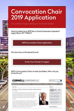 Convocation Chair 2019 Application