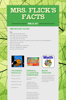 Mrs. Flick's Facts