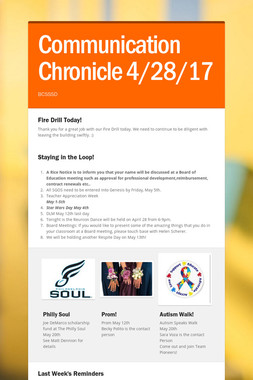 Communication Chronicle 4/28/17