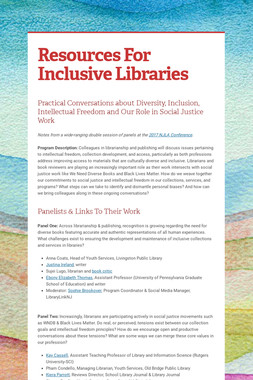 Resources For Inclusive Libraries