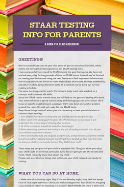 STAAR Testing Info for Parents