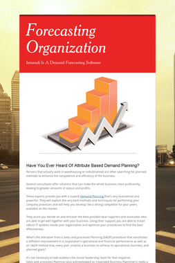 Forecasting Organization