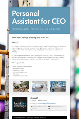 Personal Assistant for CEO